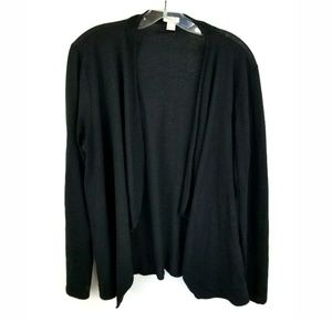 J CREW BLACK WATERFALL CARDIGAN SWEATER PULLOVER